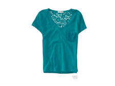 NWT AEROPOSTALE $30 LACE BACK STRETCH TOP VERY CUTE SMALL
