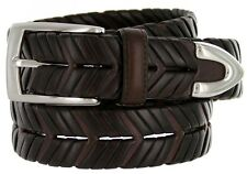 "40284500 Men's Leather Braided Woven Weave Dress Casual Belt 1-1/8"" (30mm) Wide"