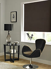 Cocoa Blackout Roller Blind - Plain Chocolate Brown Black Out Blind, From £17.99