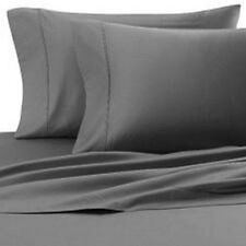 USA 1000TC Complete Soft  Bedding Collection Grey Solid 100%Cotton Choose Item