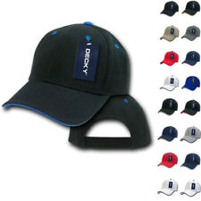 DECKY Sandwich Visor Pro Style 6 Panel Baseball Hats Hat Caps Cap 16 Colors