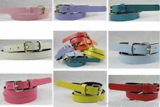 woman girl candy colours strap PU leather Belt waistband girdle for dress shirt