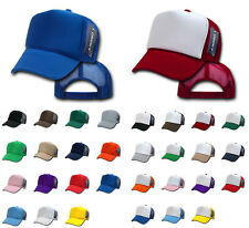 DECKY NEW TRUCKER HAT HATS CAP CAPS TWO TONE BLANK PLAIN SOLID SNAPBACK UNISEX