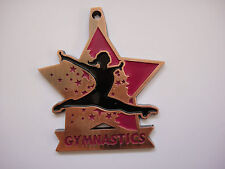 Star Gymnastic Award Medal Bronze, Silver or Gold with Ribbon (large 60 mm)