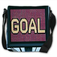 GOAL! Word on Large Screen Stadium Display Black Canvas Shoulder Bag