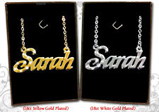 NAME NECKLACE 18k Gold Plated Nicola Nicole Olivia Rebecca Rosie Sarah Samantha