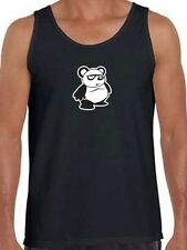 "New Men's Printed ""PAND BEAR"" MMA FUNNY BLACK WHITE Tank Top All Size S~XL 2XL"