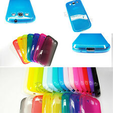 lot TPU Silicone cell phone case Soft 20color Crystal For Samsung SIII S3 i9300
