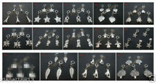 5PCS Tibetan Silver Dangle Charms Beads Jewelry Findings - Fit European Bracelet