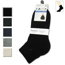 6 pairs diabetic socks for mens ankle cut seamless toe comfort band mid weight