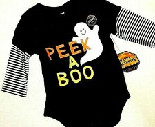 New 1 Pc Sweet PEEK a BOO Ghost Halloween Outfit GLOW in The DARK SZ 0-3M, 3-6M