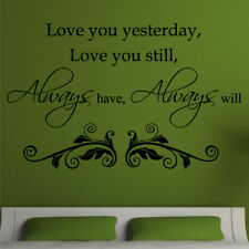 LOVE wall art stickers always have decal bedroom large mural lounge vinyl quote