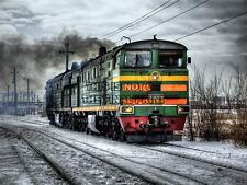 CULTURAL INDUSTRIAL LANDSCAPE TRAIN ENGINE RAIL POSTER ART PRINT PICTURE