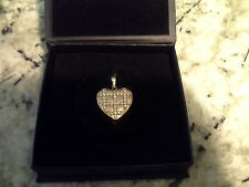 Nikken Milano Quilted Heart Pendant with the necklace