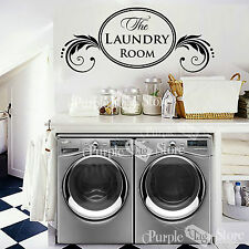 The Laundry Room Vinyl Wall Art Home Decoration Quote Decal Sticker