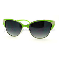 Womens Vintage Retro Fashion Sunglasses Half Rim Cateye Shades