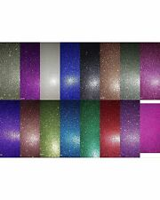 Glitter Paper - A5 Sheets - Pack of 2 - Choice of Colours