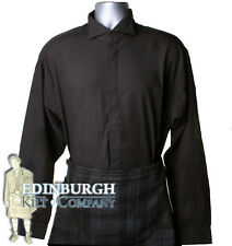 VICTORIAN COLLAR SHIRT - IDEAL FOR KILT OUTFIT - BLACK & RANGE OF SIZES!