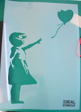 Banksy Balloon Girl stencil reusable craft painting airbrush painting decor wall