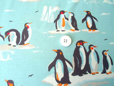 """TAB CURTAINS each 45"""" w made in CATH KIDSTON PENGUIN BLUE cotton"""