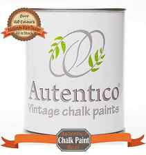 AUTENTICO CHALK PAINT 1ltr Pots & 2.5ltr Pots ♥Blues & Greens♥ MIDLANDS STOCKIST
