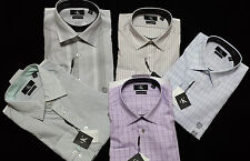 NWT Calvin Klein Slim Fit Non-Iron Dress Shirt in Assorted Colors & Sizes SILVER