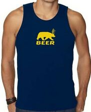 """New Men's Printed """"BEER"""" Dear Bear CUTE FUNNY MMA DESIGN All Size S~XL 2XL"""