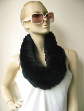 free shipping /real  rabbit fur  handmade knitted  wrap/stole/black brown