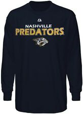 Nashville Predators NHL Licensed Majestic Long Sleeve Navy Shirt Big Sizes