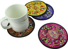 wholesale mix color Chinese Embroidered Round Mat With flowers shipping