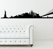 Adesivo da parete skyline New York City NY Vinyl Wall Stickers Decals
