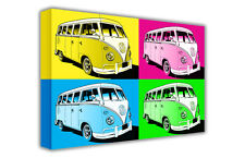 LARGE POP ART VOLKSWAGEN CAMPER VAN CANVAS PICTURE PRINT / WALL ART / PHOTO