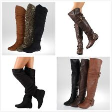 New Women's Fashion Slouchy Over The Knee Thigh High Boot Shoes