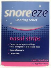 Snoreze Nasal Strips Ideal for snorers suffers, Aid to a restful night sleep