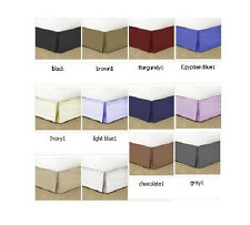 USA 1000TC BED SKIRT IN 12'',14'',16'',18'',20''&22'' Drop LENGTH 100% COTTON