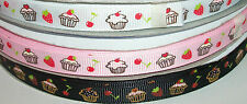 Cupcake Cup Cake Grosgrain Ribbon 10mm 16mm 25mm or 38mm wide Choice of Colours