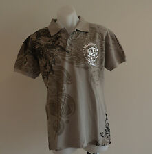 Christian Audigier Mens Polos - GREY - Sizes M,L,XL & XXL - NEW