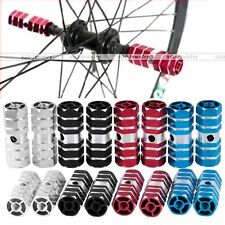 1Pair Axles Aluminum Alloy Stunt Foot Pegs Pedal for BMX Bicycle Cycling Bike