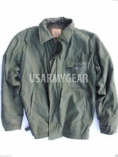 Vietnam Era US Navy A-2 Military Cold Weather Permeable OD DECK JACKET USN A2 GC