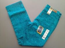 NWT - Women's Levi's 512 Perfectly Slimming Teal Splatter Straight Leg Jeans