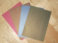 15 Pearl shimmer A4 2 sided Paper 120gsm red,blue,green & bronze