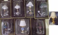 DOLLS HOUSE LIGHTING 1:12 SCALE TABLE LAMPS (2)