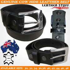 New Detachable Buckle Top Grain Genuine Cow hide Leather Classic Jeans Belt