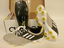 Adidas Men's Adizero Tour Golf Shoes Grey/Dark Grey/Yellow *NEW* *NOT BLEMS!!!*