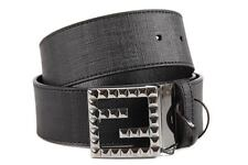 FENDI WOMEN'S ADJUSTABLE LENGTH REVERSIBLE LEATHER BELT ZUCCA BROWN  03F