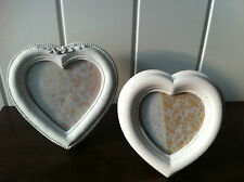 VINTAGE CHIC ANTIQUE HEART PHOTO FRAME IN CREAM BY SASS & BELLE