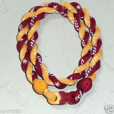 Phiten Tornado Custom Necklace: Red Maroon with Gold