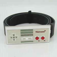 Western New Nintendo Nes Game Controller mens metal white Belt Buckle Leather