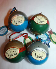 Personalised Snowy Night Christmas Decoration Bauble by H&H