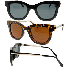 Womens Large Wayfarer Sunglasses Modern Style Metal and Plastic Frames